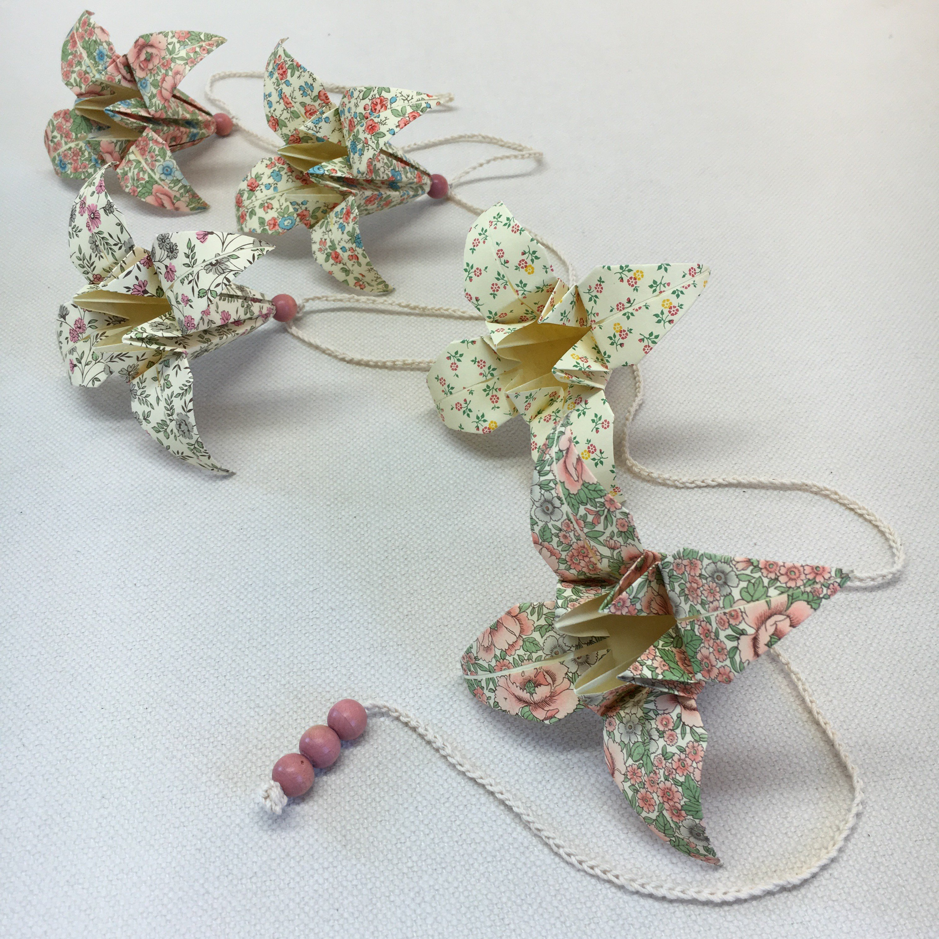 Origami-slinga Rosa 1