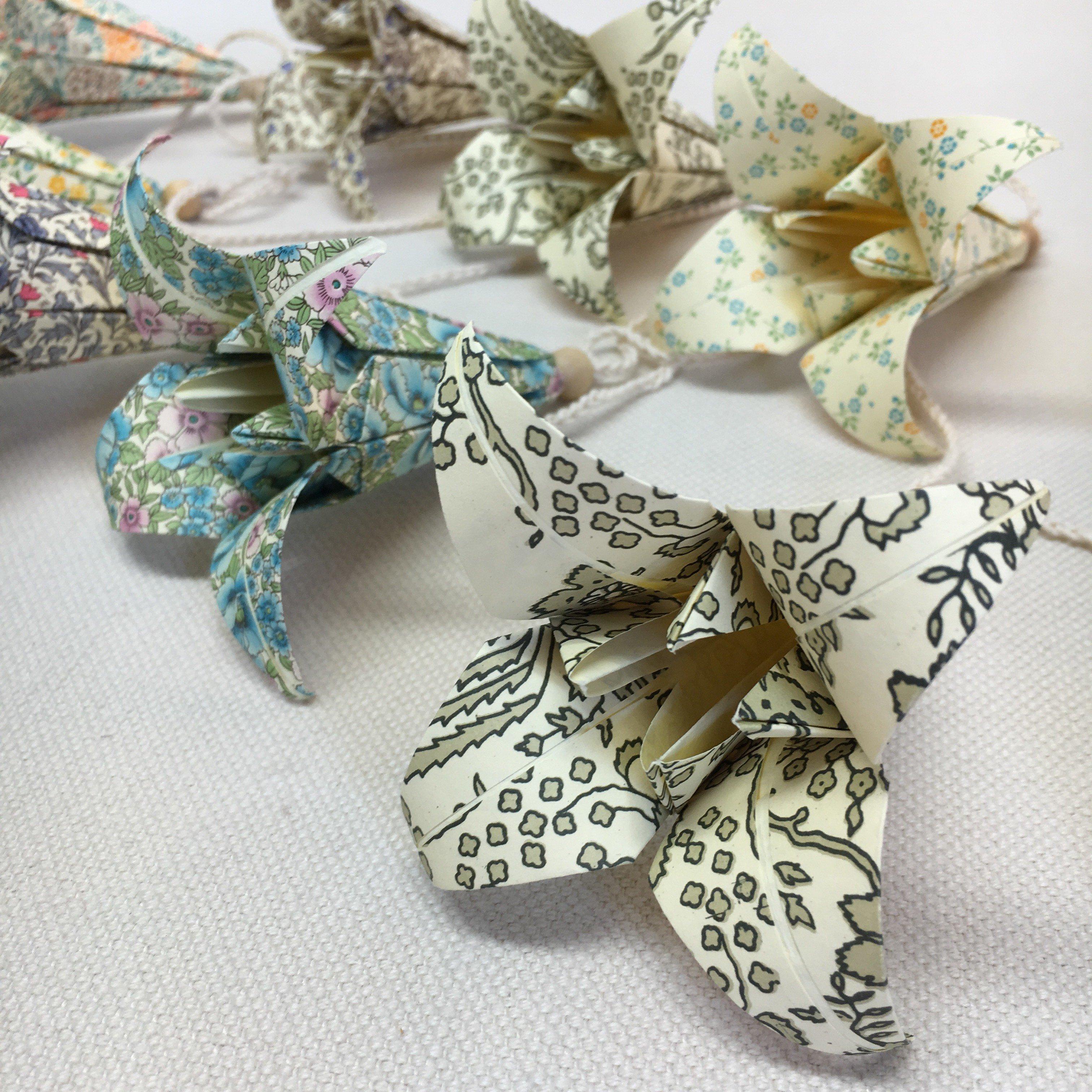 Origami-slinga Natur Lång