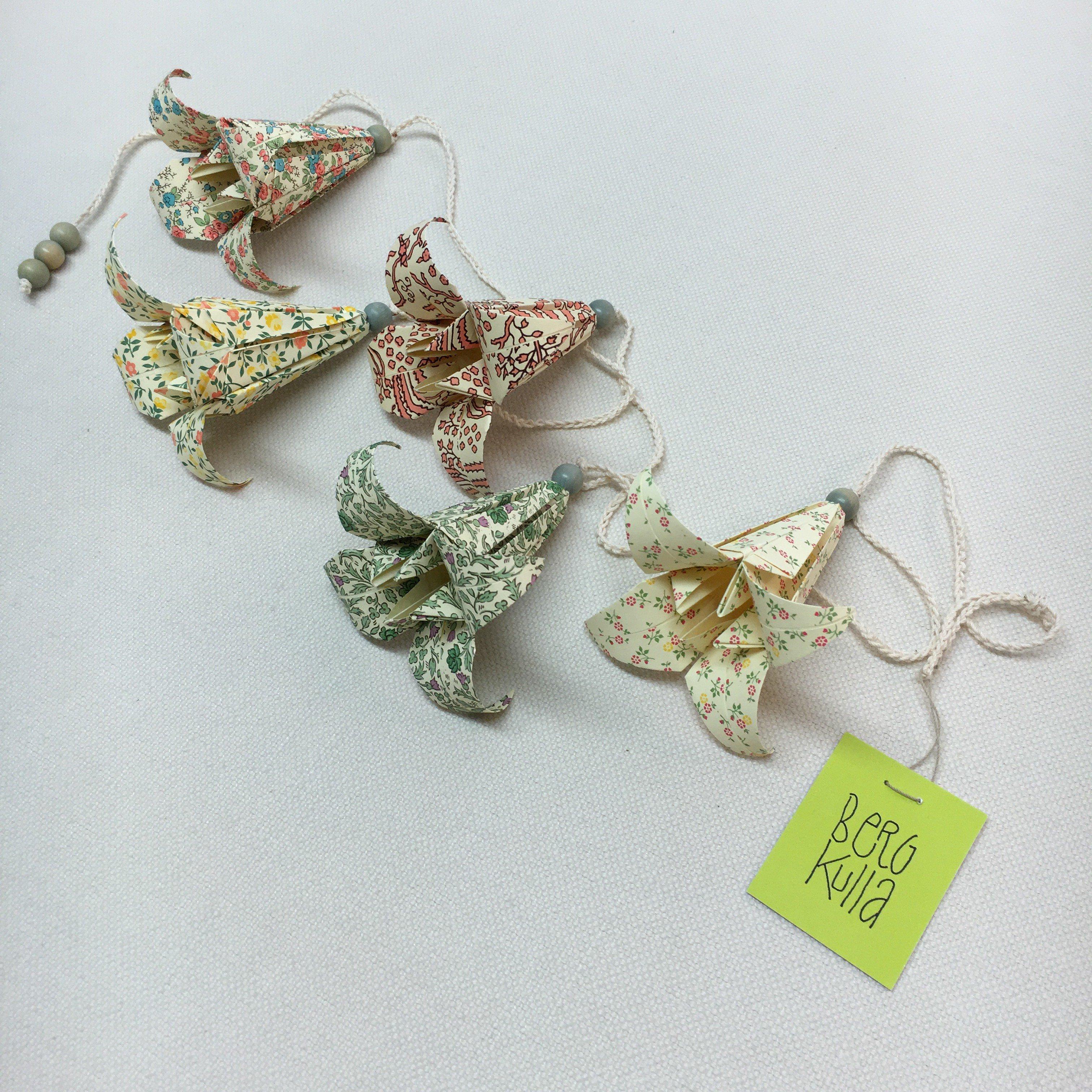 Origami-slinga Ljusblå