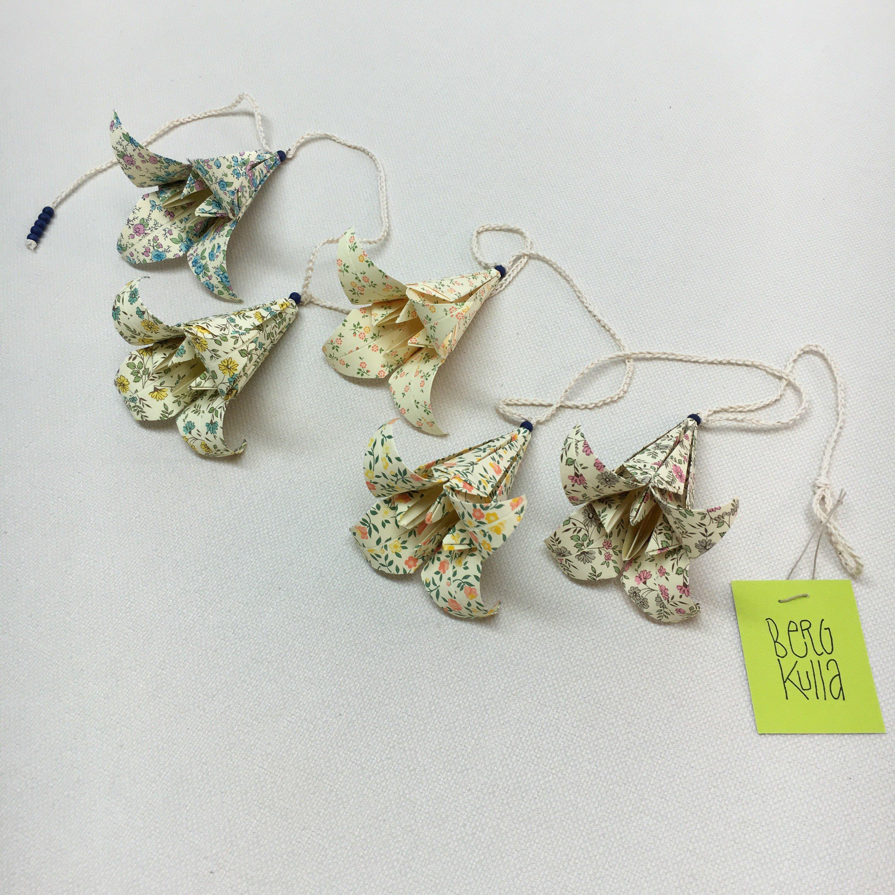 Origami-slinga Blå 2