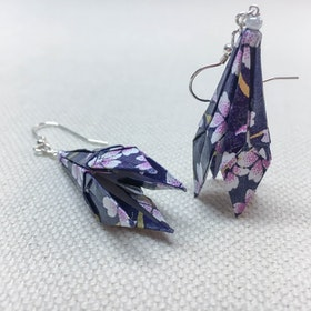 Örhänge Origami Rak Lilja Par
