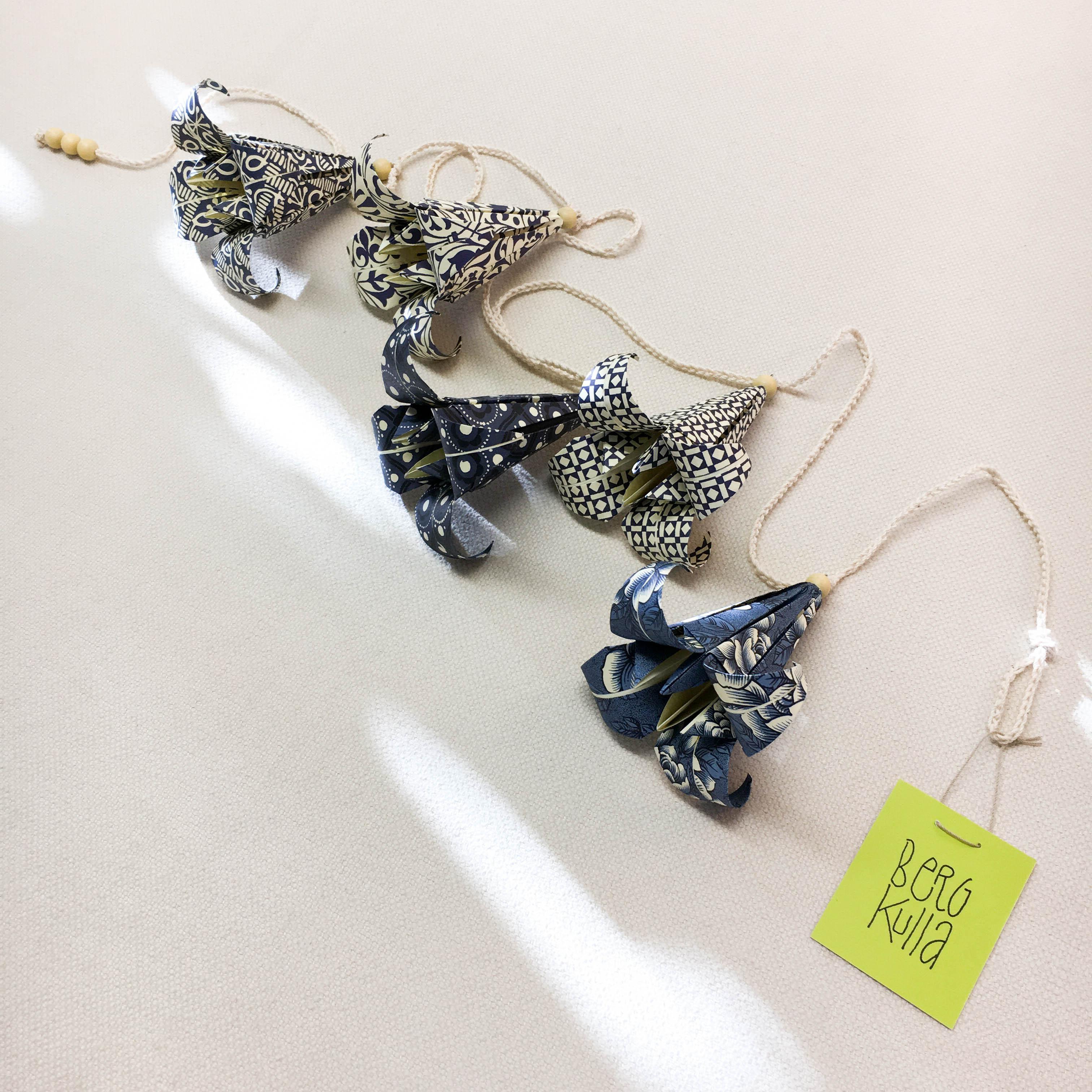 Origami-slinga Blåbär