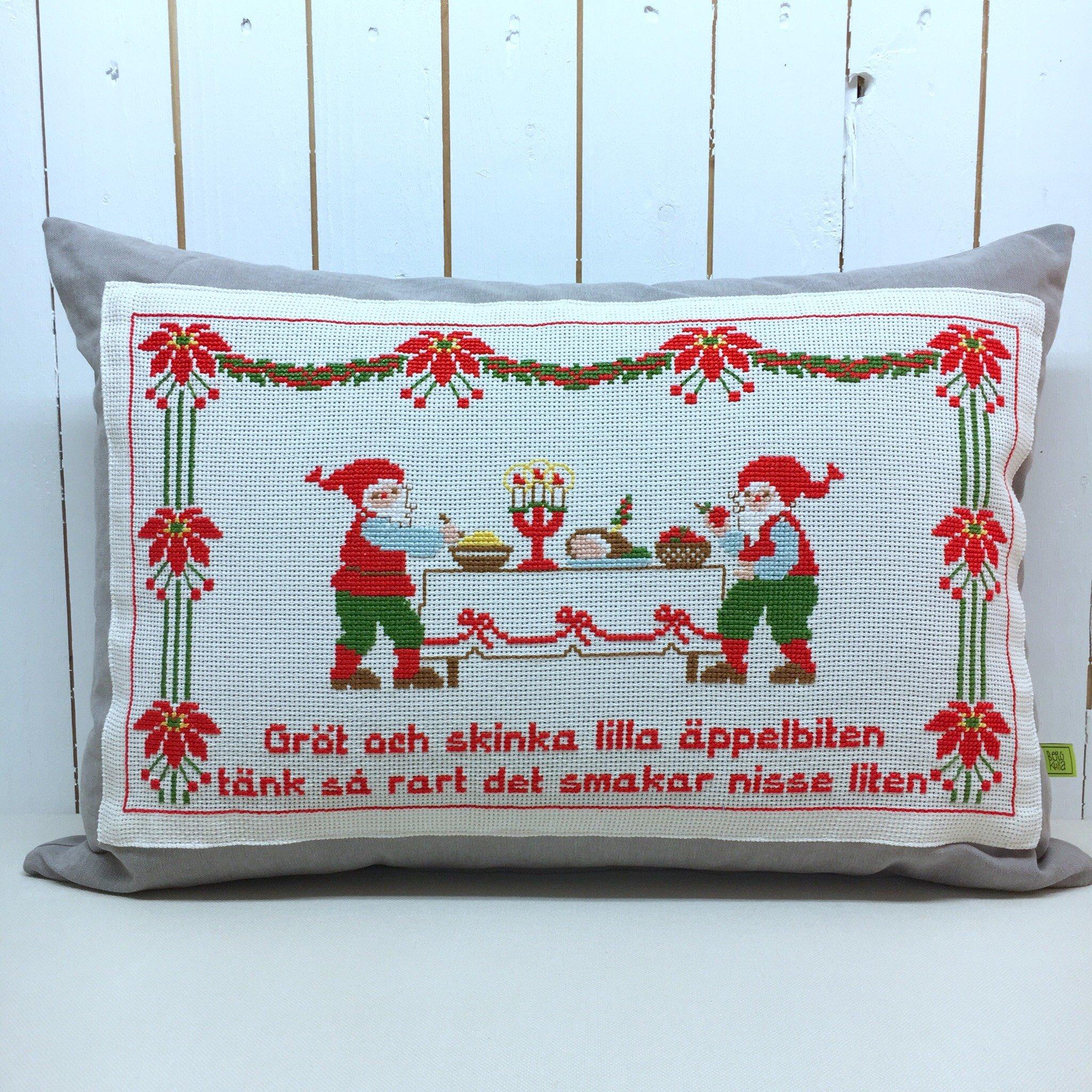 Julbonadskudde Gröt och skinka lilla äppelbiten