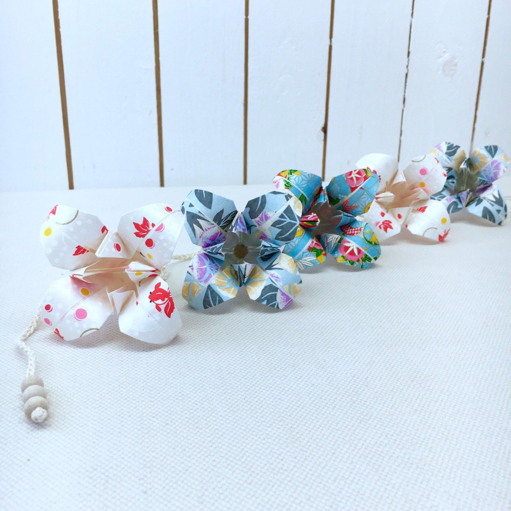 Origami-slinga White Koi