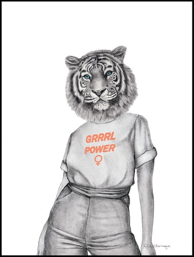 Grrrl Power Tiger