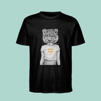 Grrrl Power T-shirt Black