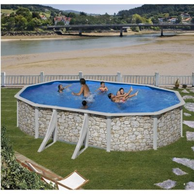 Clear Pool Stenimitation oval 610x375, H120 cm