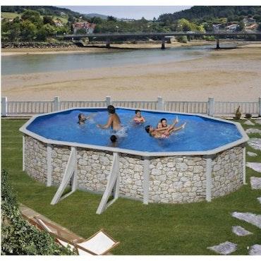 Clear Pool Stenimitation oval 500x300, H120 cm