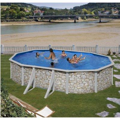 Clear Pool Stenimitation oval 610x375, H132 cm