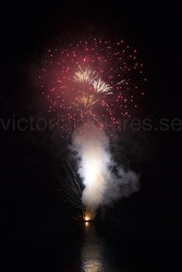Fireworks ocean