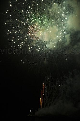 Fireworks green sparkles