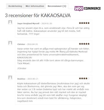 PRODUKTSET - KAKAOSALVA och CHOKLADOLJA - Billigare, enklare och fri frakt!
