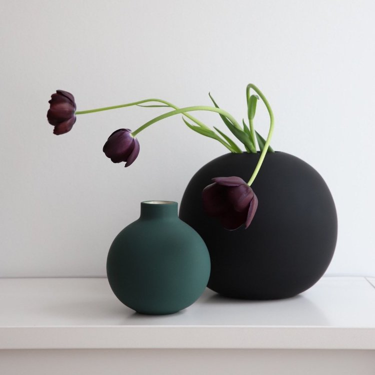 Collar Vase 12 cm  Dark Green