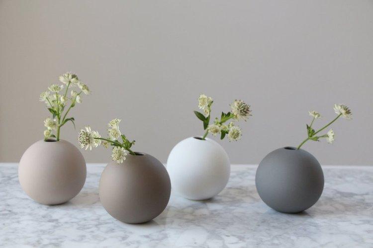 Ball Vase 10 cm White