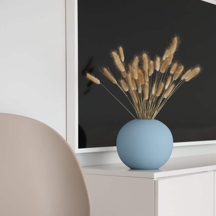 Ball Vase Dusty 20 cm Blue