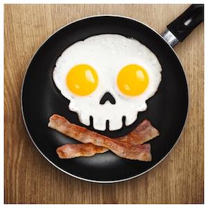 OMELETTSKALLE - Dödskalleform för ägg