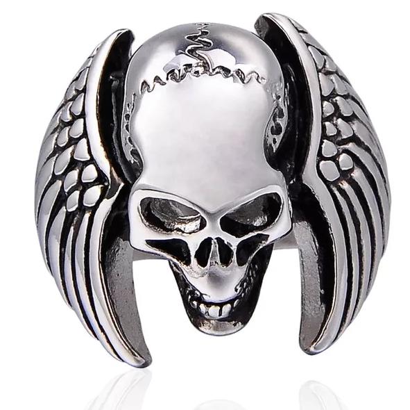 DEATH ANGEL - Ring med döskalle och vingar.