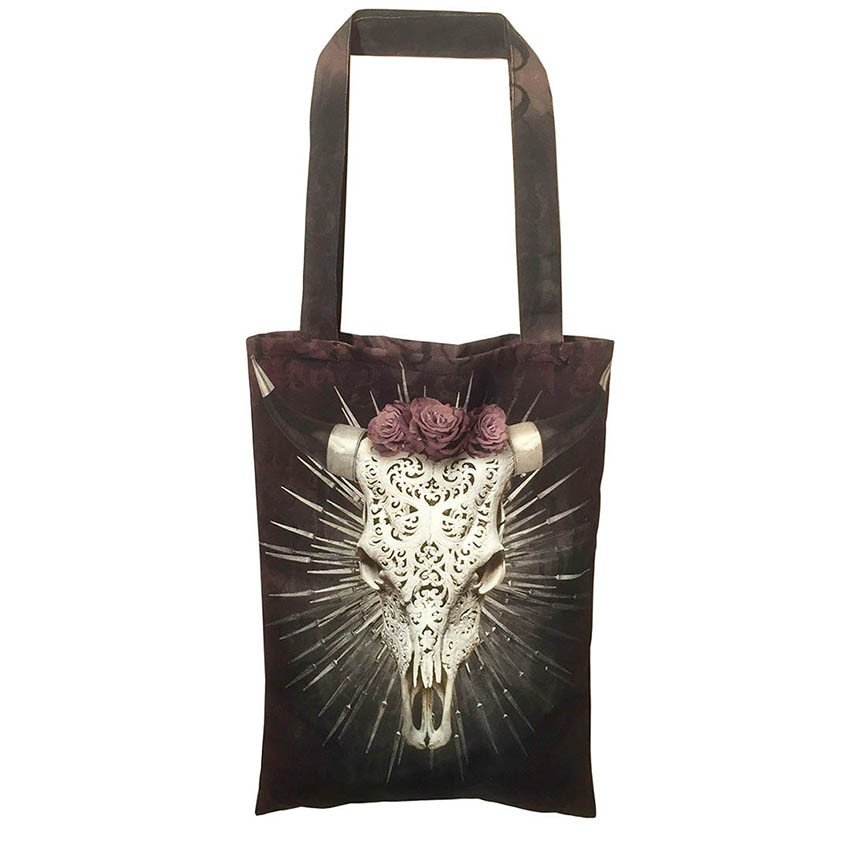Silver Steer Shopper Bag - Shoppingkasse
