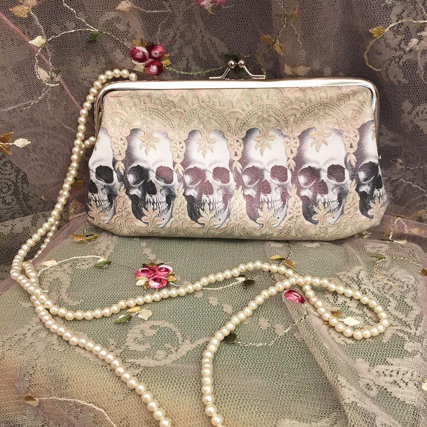 Lace Skull Row - Plånbok