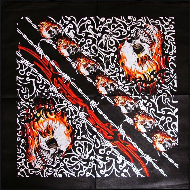DIRT - Bandana, snunsnäsduk med brinnande mönster