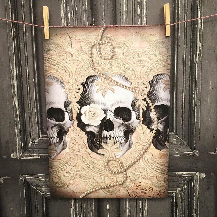 LACY SKULL ROW - Poster design Van Asch