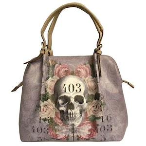 BAGGY - Lilac 403 Skull Handväska