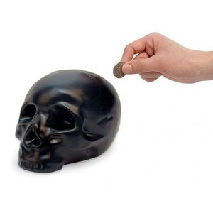 DÖDSKALLESPARBÖSSA - Ceramic Skull Coin Bank