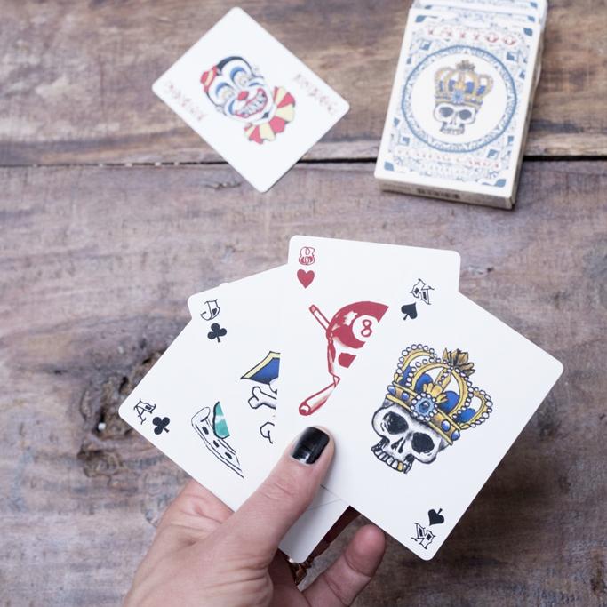 TATTOO - Spelkort/kortlek med dödskallemotiv