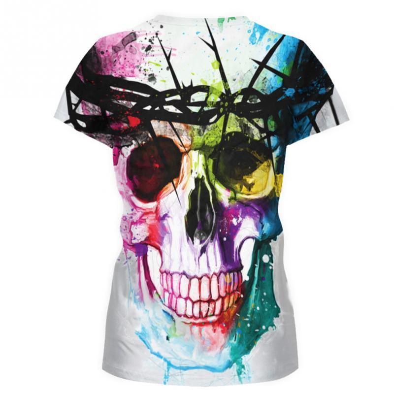 Harajuku - Dödskalle dam T-shirt