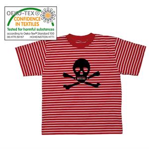 RANDIG PIRAT - Pirat T-shirt i rött och vitt