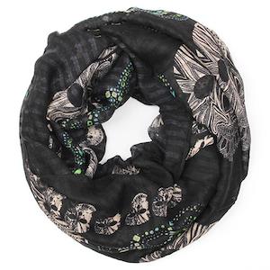 LOVE BITES - Tubscarf i svart med färgglada sugarskulls