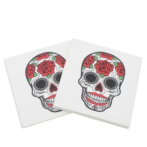 WET - Servetter med sugarskulls