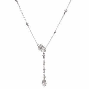 BEAT IT - Halsband med glittrande dödskallar