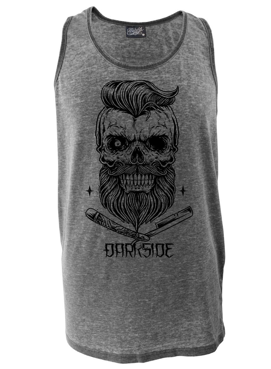 DARKSIDE - Bearded Skull Vest Burnout