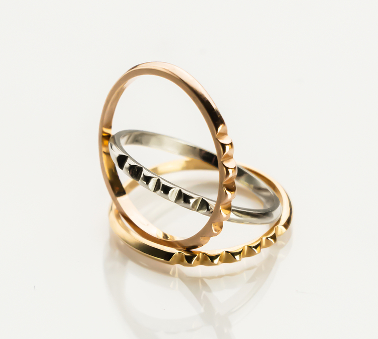 STUD RING 18K ROSE GOLD