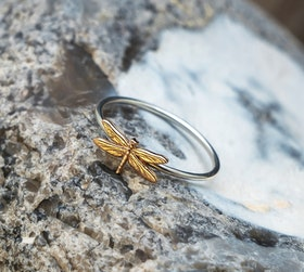 DRAGONFLY RING 18K GOLD