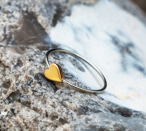 HEART RING 18K GOLD