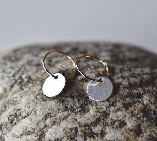 Simple earring silver & gold