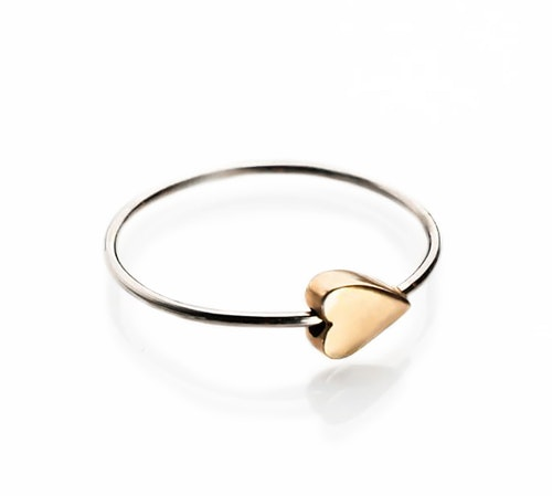 HEART RING 18K ROSE GOLD
