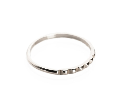 STUD RING SILVER