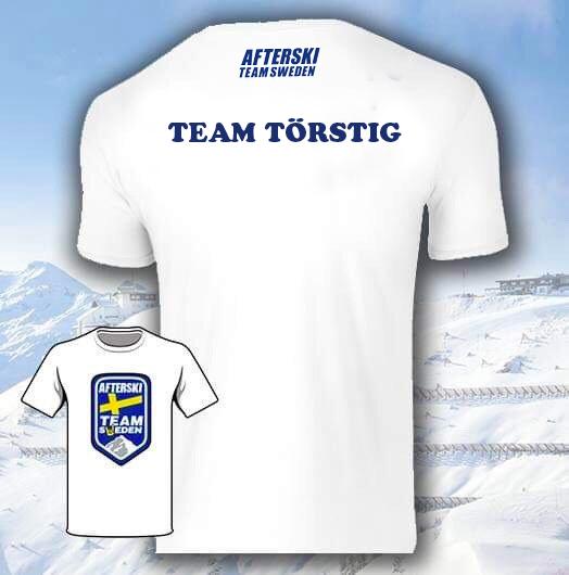 T-shirt Afterski + Ryggtryck
