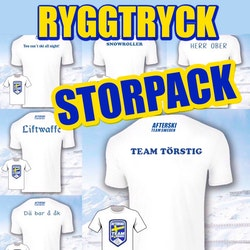 STORPACK 10st : T-shirt + Ryggtryck