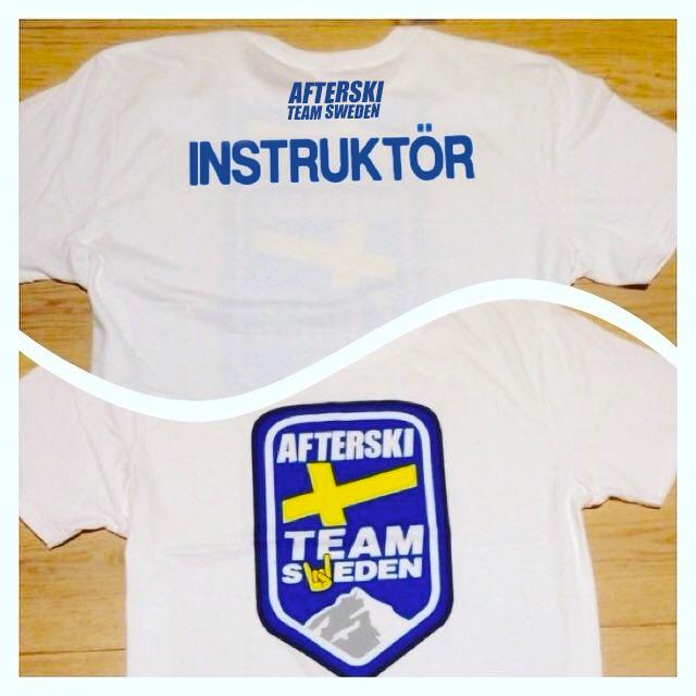 """T-Shirt """"INSTRUKTÖR"""" Afterski Team Sweden"""