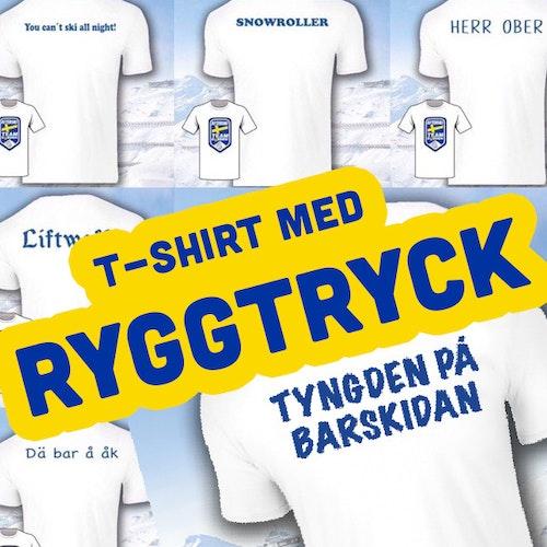 T-Shirt med Ryggtryck - Afterski Team Sweden