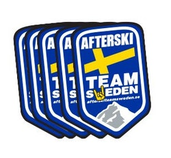 5-pack Klistermärken Afterski Team Sweden
