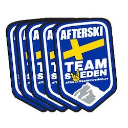 5-pack Klistermärken Afterski Team Sweden