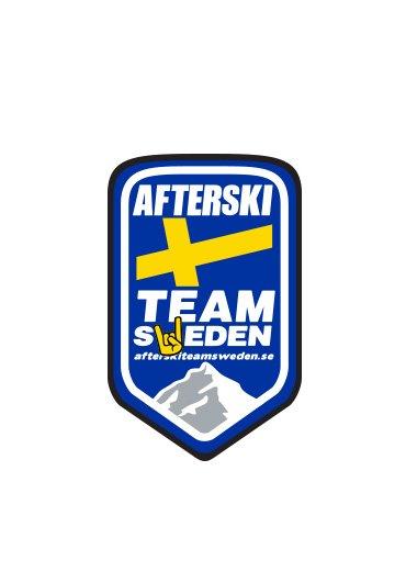 "Klistermärke ""Litet"" Afterski Team Sweden"