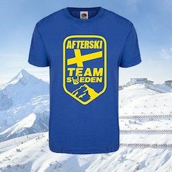T-Shirt - Blå - Afterski Team Sweden
