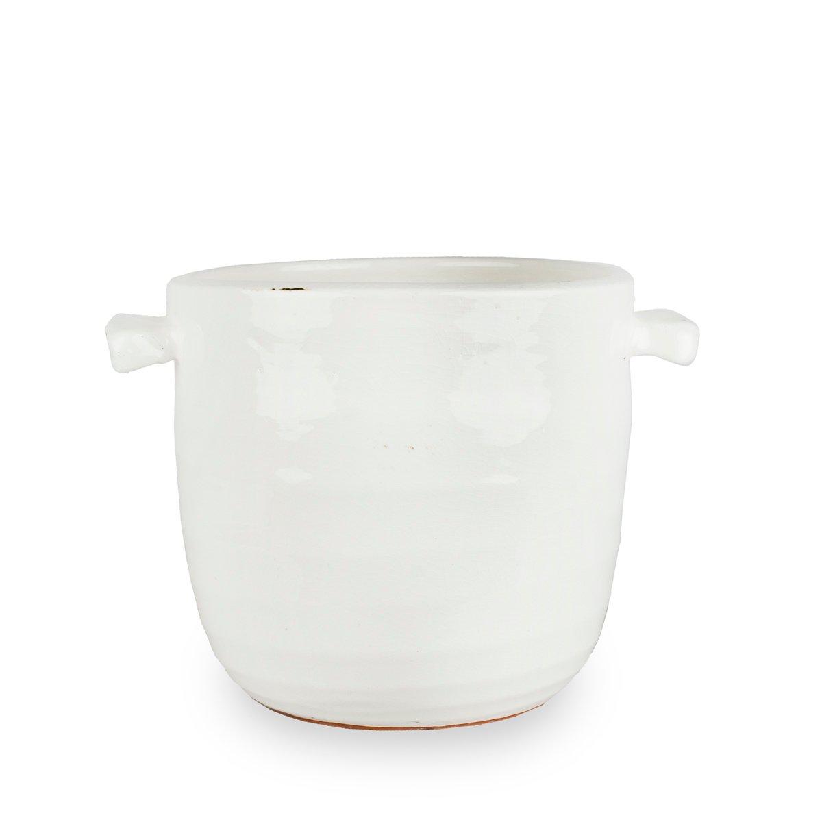 Olsson & Jensen kruka keramik vit