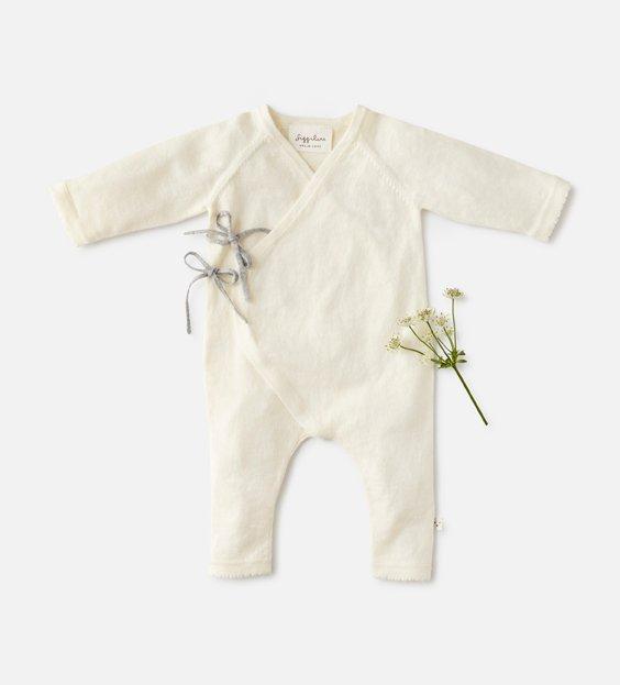 Newborn Wrap Onesie - Ivory